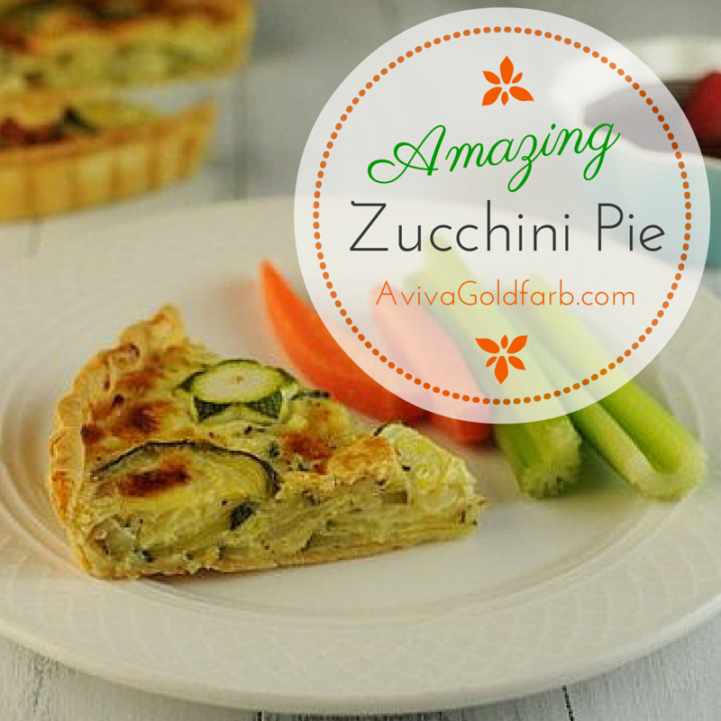 Amazing Zucchini Pie - AvivaGoldfarb.com 2