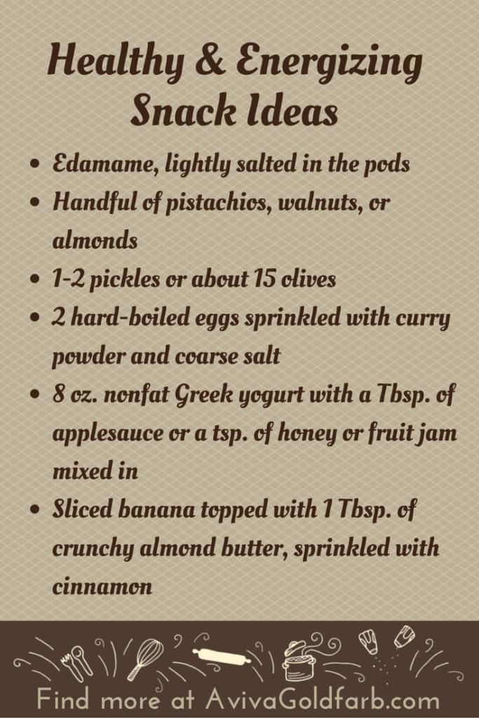 Healthy Snack Ideas - AvivaGoldfarb.com