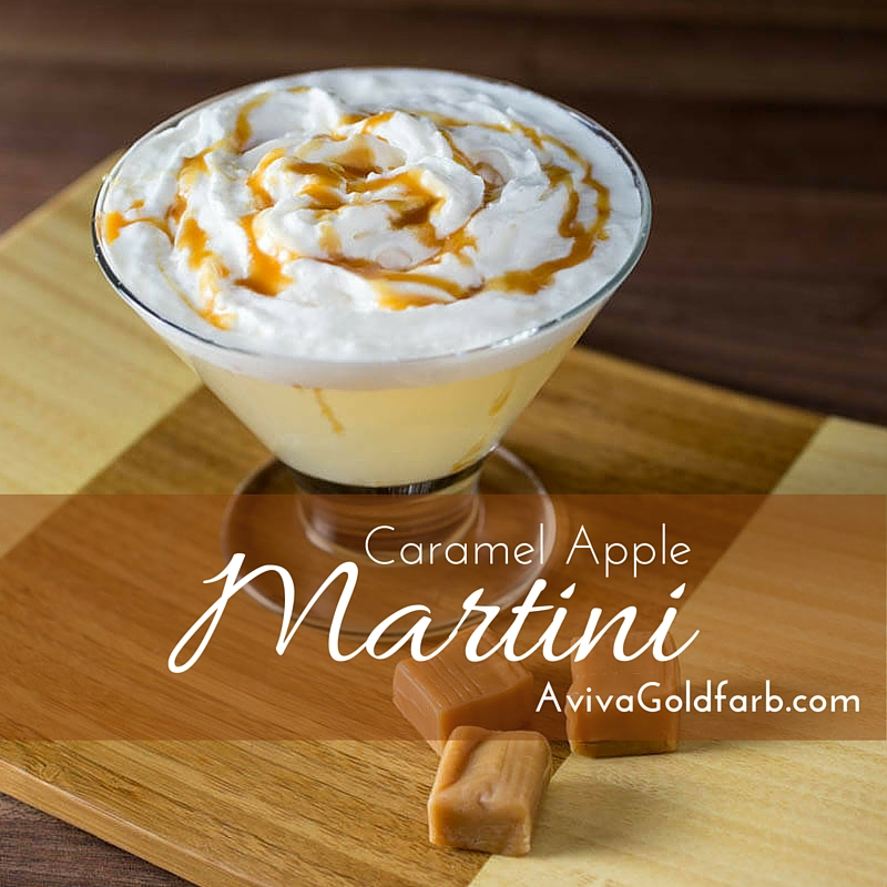 Easy Holiday Cocktail Recipe - Caramel Apple Martini - Aviva Goldfarb