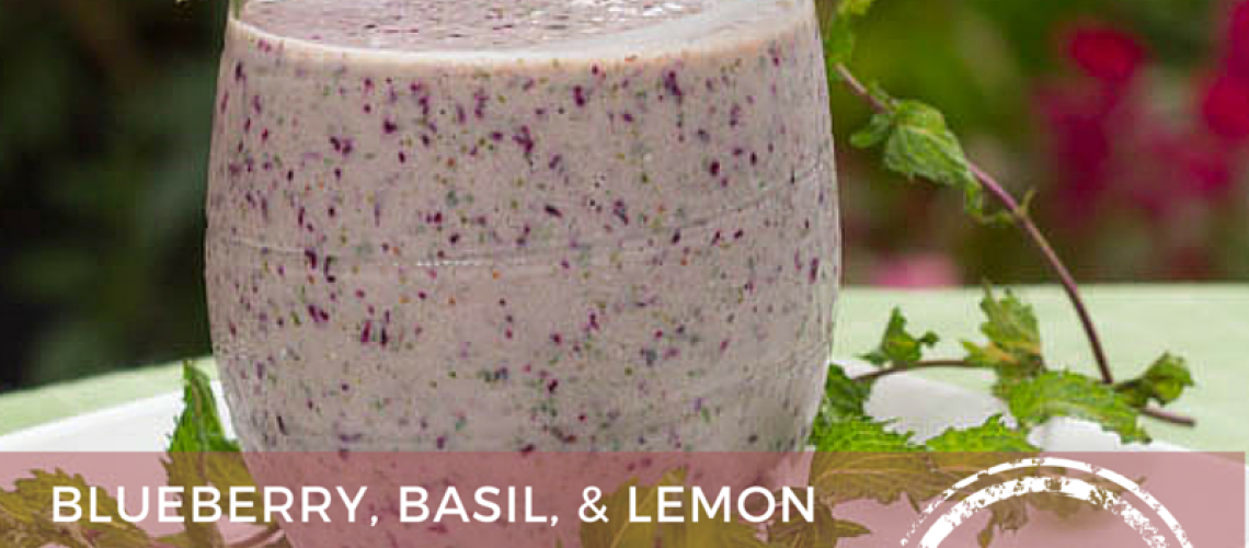 Blueberry, Basil, and Lemon Smoothie - AvivaGoldfarb.com