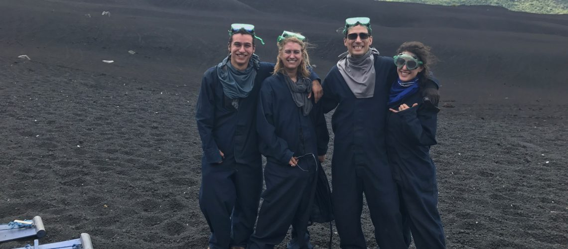 family at bottom of cerro negro